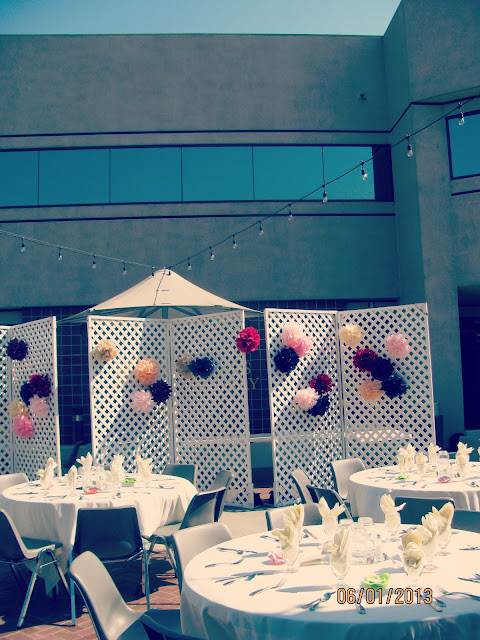 Spring Banquet 2013 // Trellis & Poms