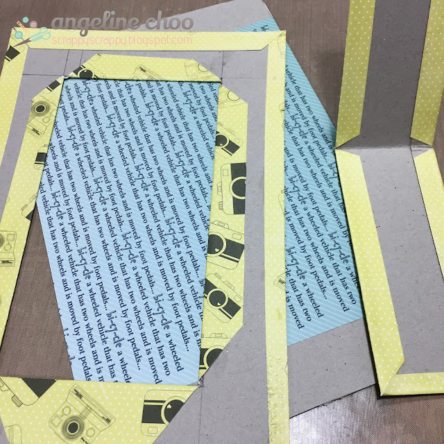 ScrappyScrappy: DIY Recycled Photo Frame #scrappyscrappy #thecuttingcafe #diy #photoframe #printables