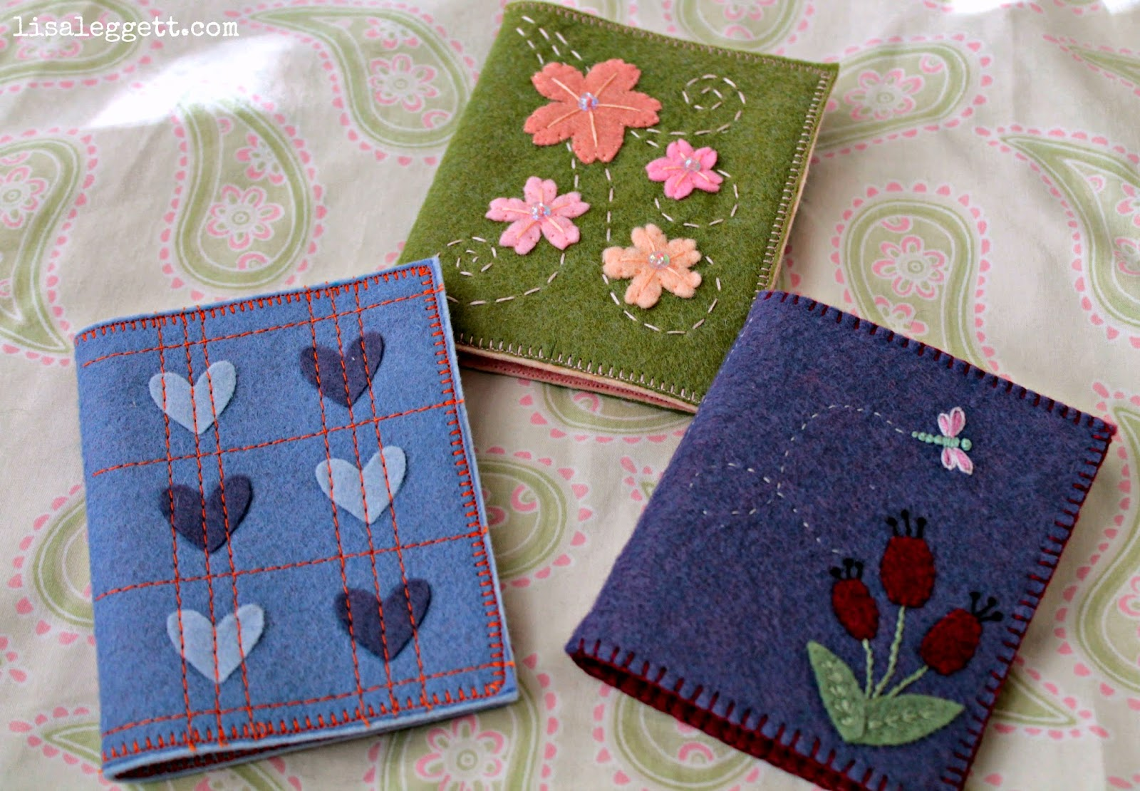 Felt & Embroidered Needle Books by Lisa Leggett