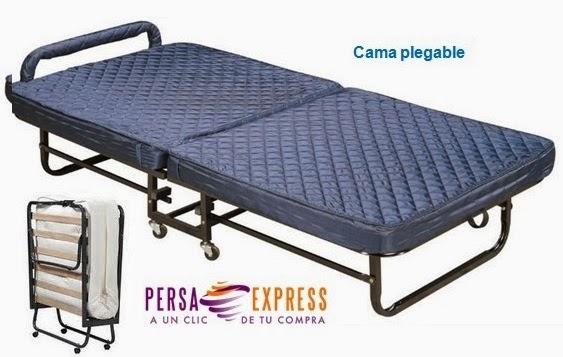 Cama plegable o abatible sobre ruedas rollaway persa express - Cama plegable conforama ...