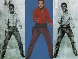 Elvis de Warhol, imagen utilizada en el ensayo de arte Marilyn, Andy Warhol y Walter Benjamin realizado por Juan Sánchez Sotelo para la Academia de dibujo y pintura Artistas6 de Madrid.