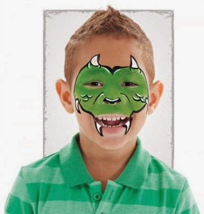 Maquillaje dragón