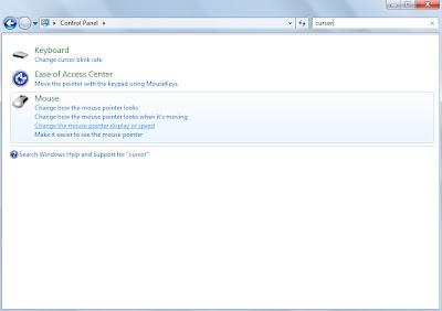 Mengganti Cursor pada Windows 7