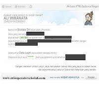 Konfirmasi Data Aktivasi Akun PTK