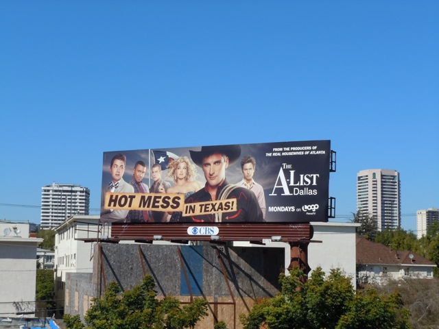 A-List hot mess Texas billboard