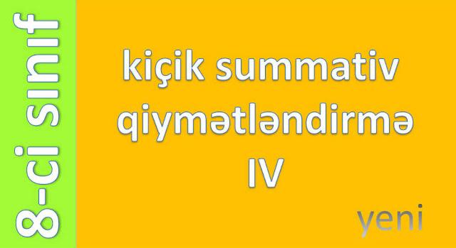Kiçik Summativ Qiymətləndirmə IV. 8 sinif