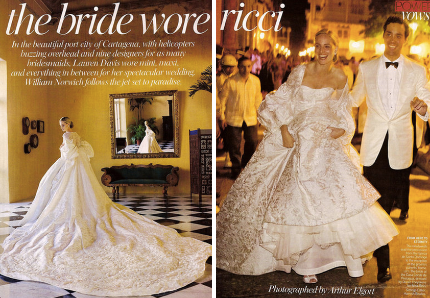 Her Wedding Of Course Was Covered In Vogue She Seems To Have It All What Do I Know About Lauren Santo Domingo