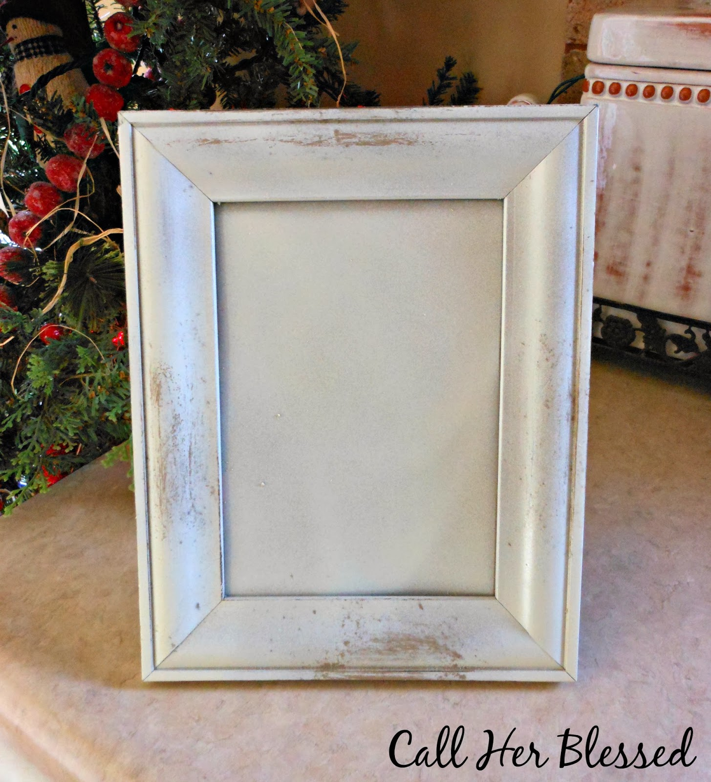 If The Creek Don\'t Rise: Distressing Frames with Soap & Spray Paint