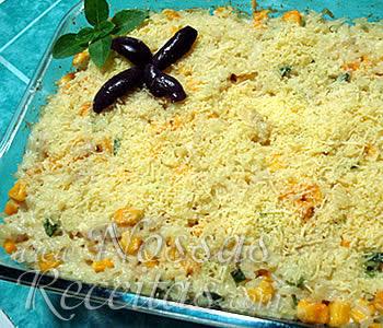 receita de arroz preparado no forno