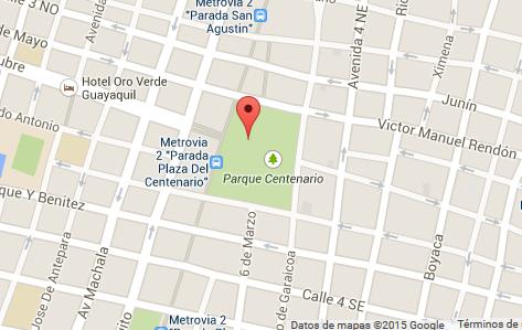 mapa como llegar Plaza del Centenario