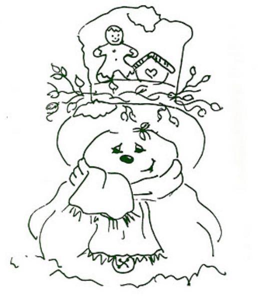 Ideas de Manualidades***: individual con muñeco de nieve