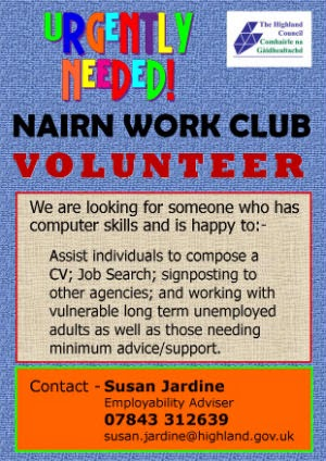 Work Club volunteer needed