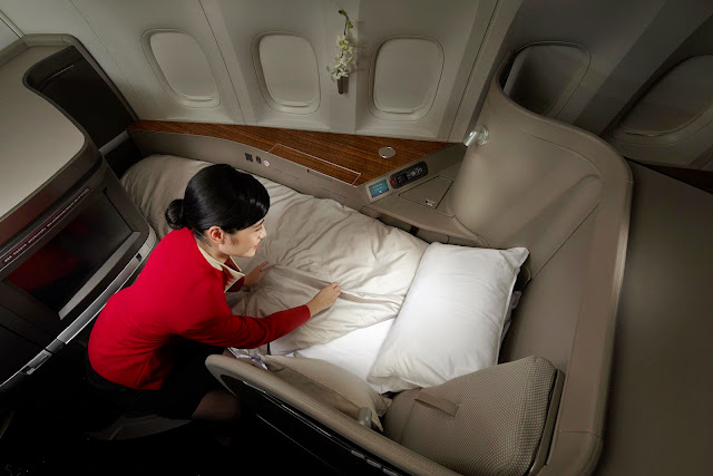 Cathay Pacific has upgraded its First Class bedding which includes thicker mattrees