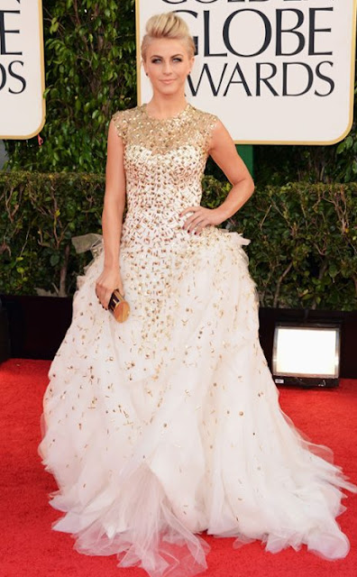 golden globes, 2013, julianne hough, monique lhuillier
