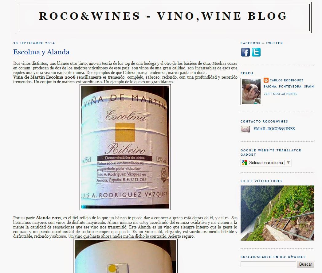Entrevista al autor de ROCO&Wines