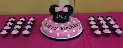 Minnie Mouse Cupcakes For Birthday Party