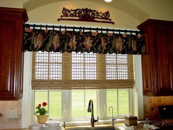 rideaux pour la cuisine moderne