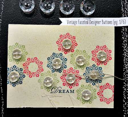 Dream Card featuring Vintage Buttons