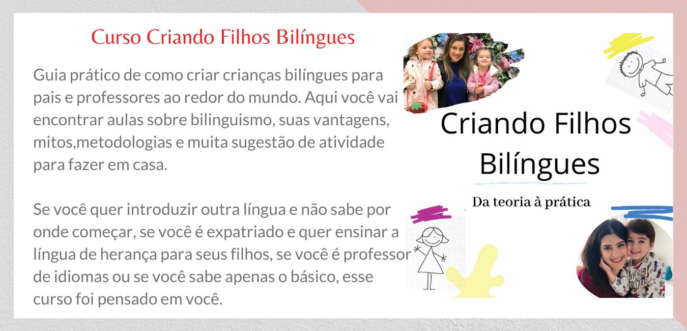 Curso Criando filhos Bilíngues