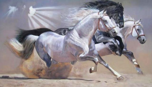 pinturas-de-caballos-cuadros-al-oleo
