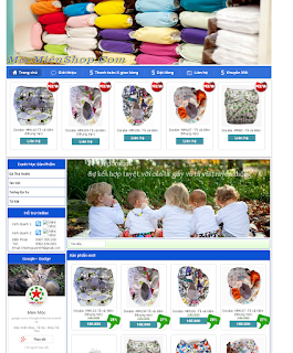 Mẫu website bán hàng 001