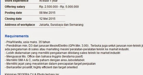 Lowongan Kerja Smk Semarang 2015