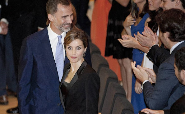 King Felipe VI of Spain and Queen Letizia of Spain attend the 'Princesa de Girona Awards'