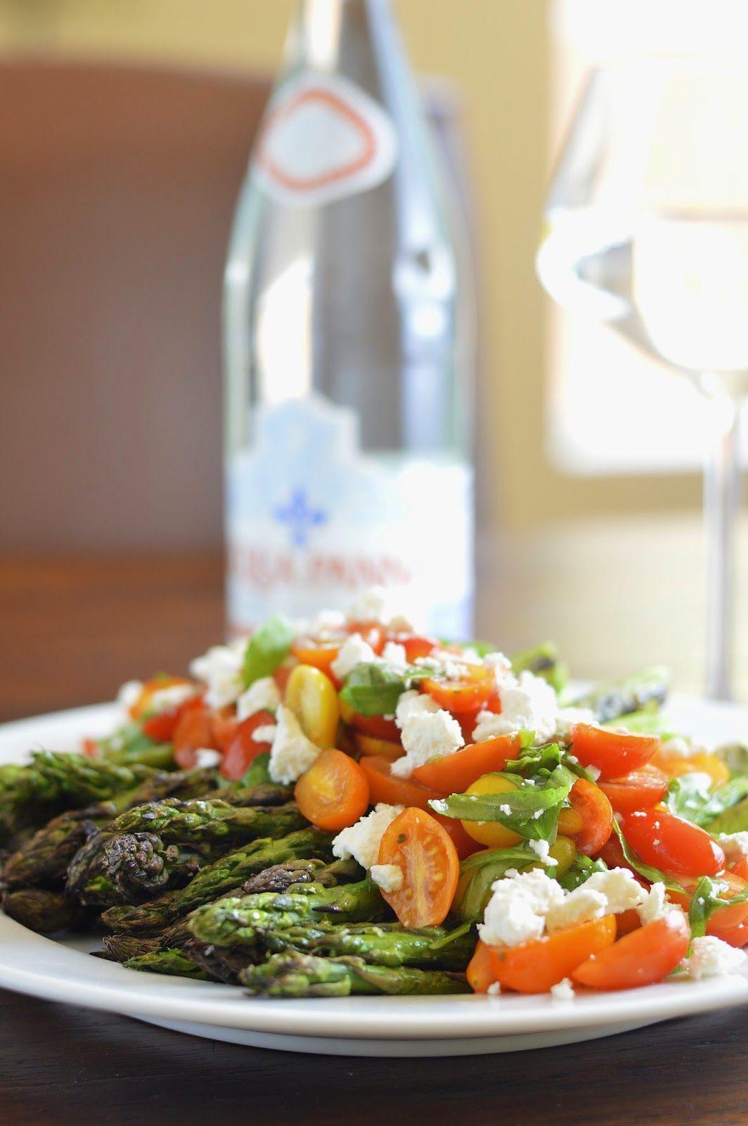 Grilled Asparagus with Tomato Salad and Goat Cheese | Virtually ...