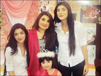 Urwa & Mawra and Javeria Saud with daughter Jannat in Pakistan celebrities