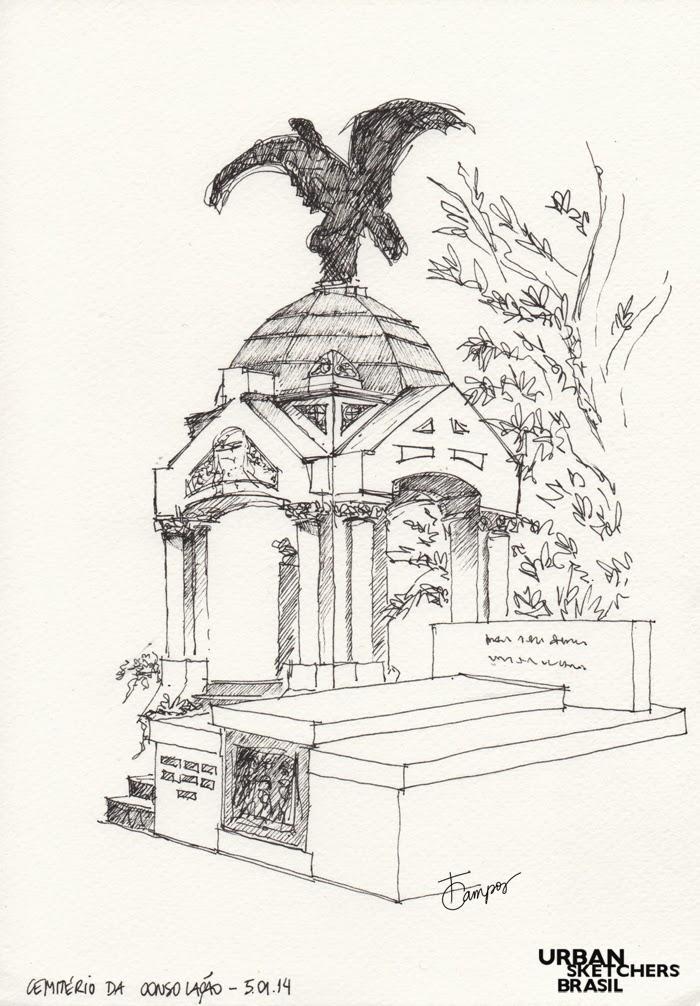 urban sketchers brasil cemitério da consolação