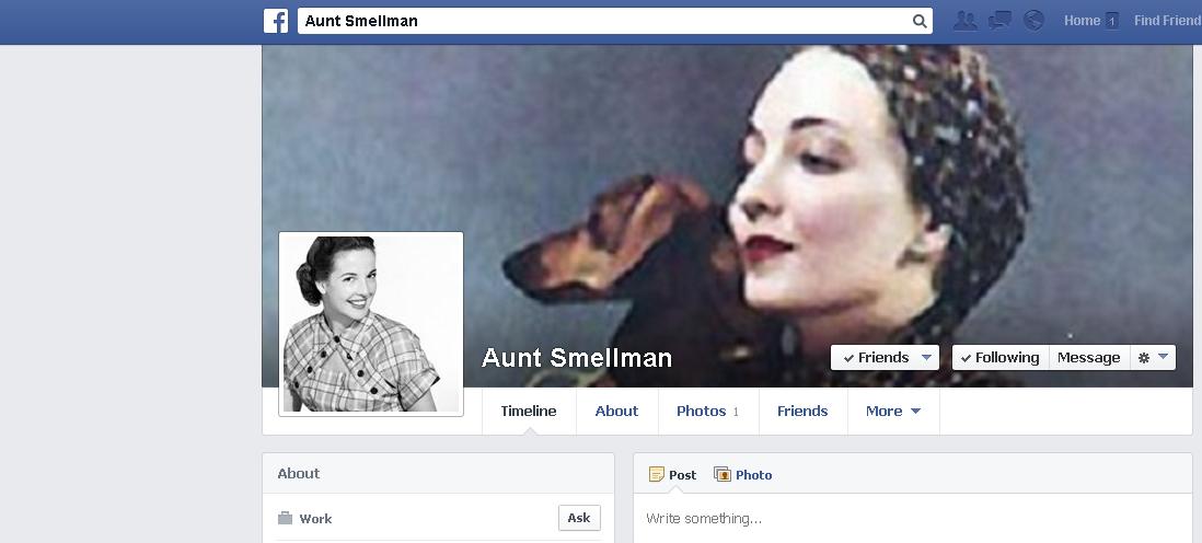 aunt smellman on facebook