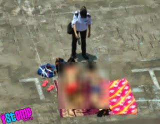 5 GAMBAR Dua gadis berbik ini berjemur di atas bumbung di marah pengawal