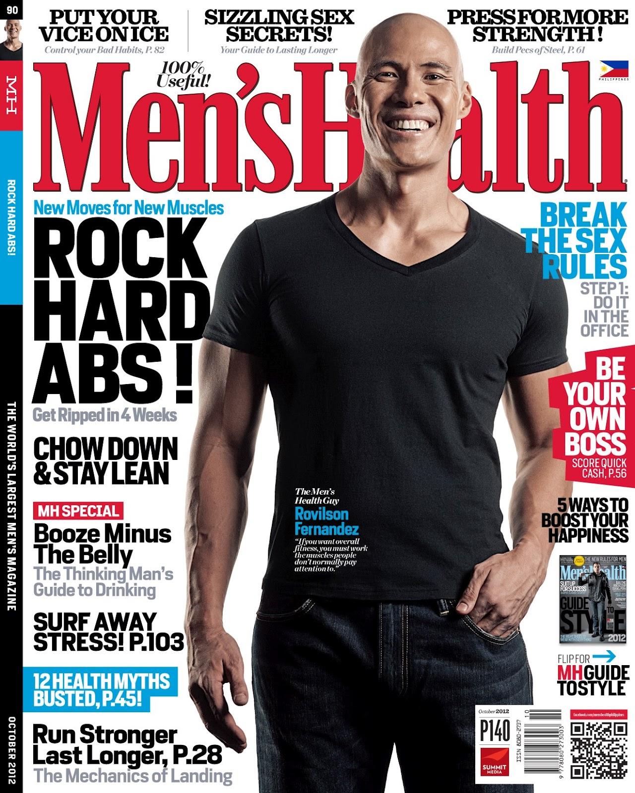 Men S Health: Turtz On The Go: Rovilson Fernandez Covers Men's Health