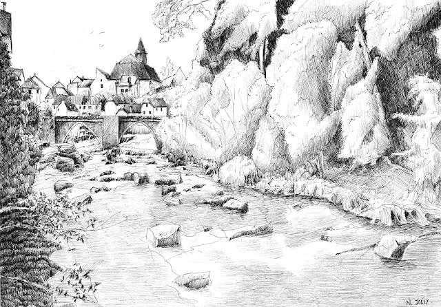 Treignac rivière encre