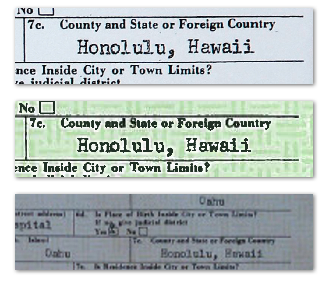 Hawaii spelled huwaii on obamas birth certificate savannah guthries original images of obamas birth certificate published here and here aiddatafo Image collections