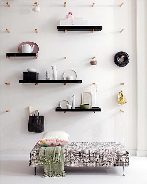 La chica del malet n ideas originales para una tienda - Percheros de pared originales ...