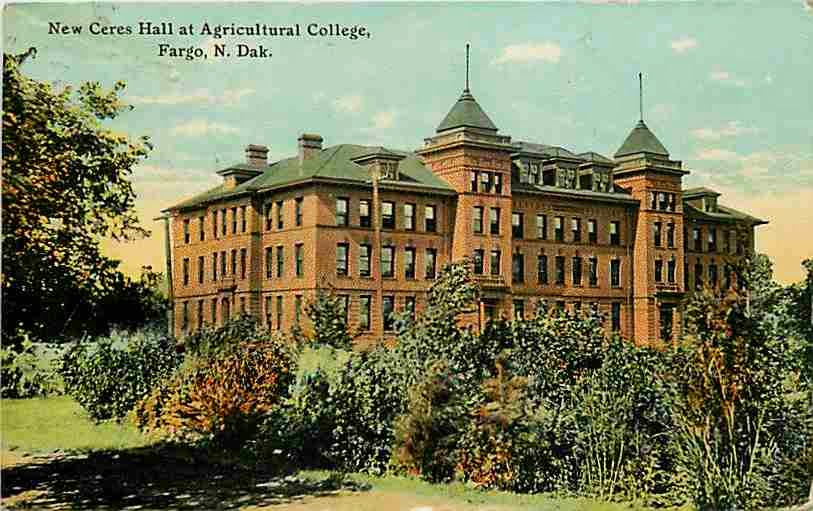 ceres hall post card circa 1911 here is north dakota