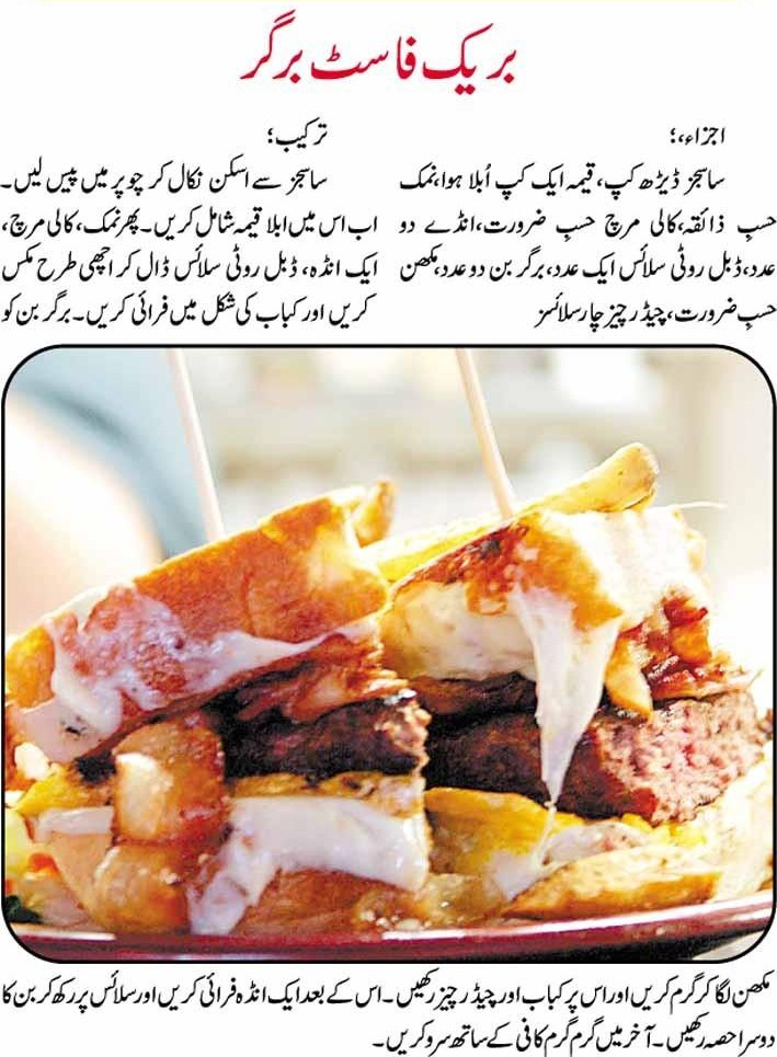 Breakfast burger recipe in urdu apna food breakfast burger recipe in urdu forumfinder Gallery