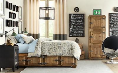 dormitorio juvenil estilo industrial