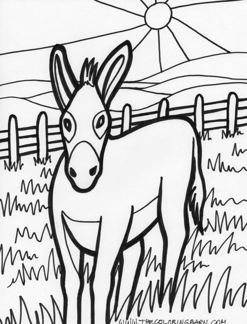 Cartoon Farm Animal Coloring Pages For Kids title=