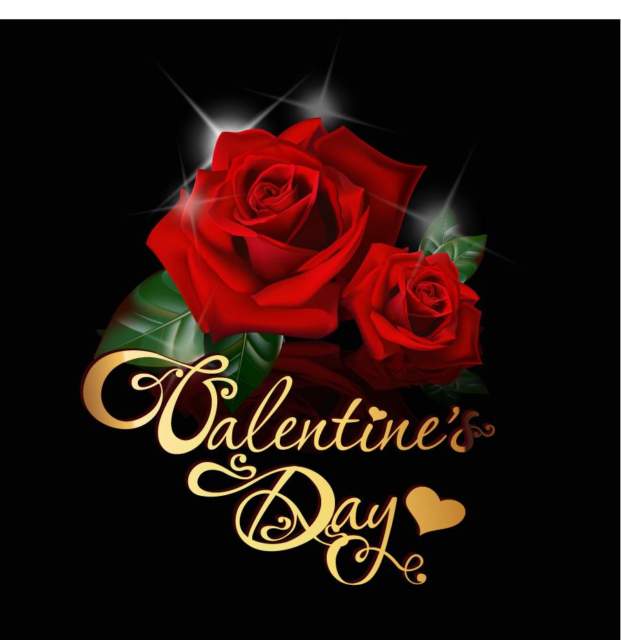 赤い薔薇のバレンタインデー カード背景 Valentine's Day greeting cards roses love イラスト素材