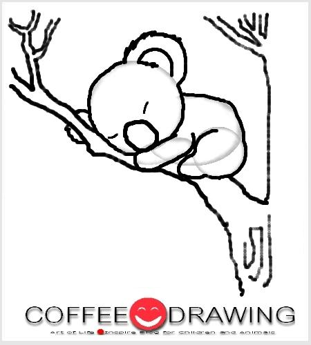 how to draw a koala step by step
