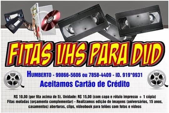 Fitas VHS para DVD