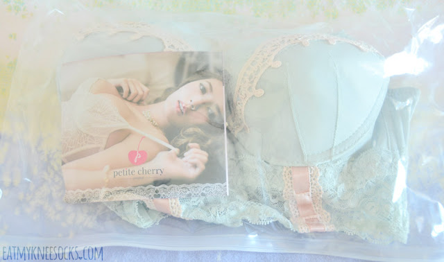 Petite Cherry's packaging is both cute and thoughtful; the bra and panties were packaged in a clear sealed bag, along with a wear-and-care guide.