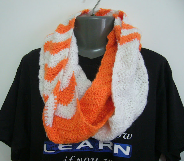 crochet chevron infinity scarf pattern