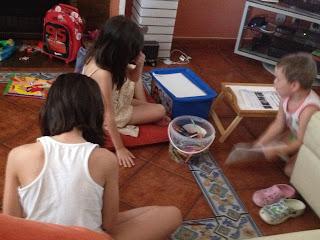 niños, hijos, artistas, obras de arte, vacaciones, verano