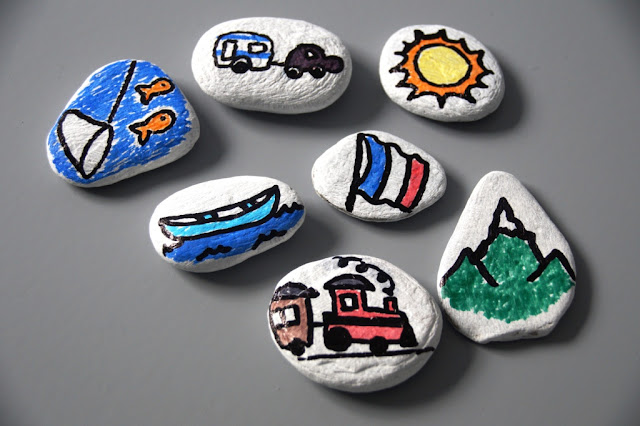 capturing holiday memories, diy story stones
