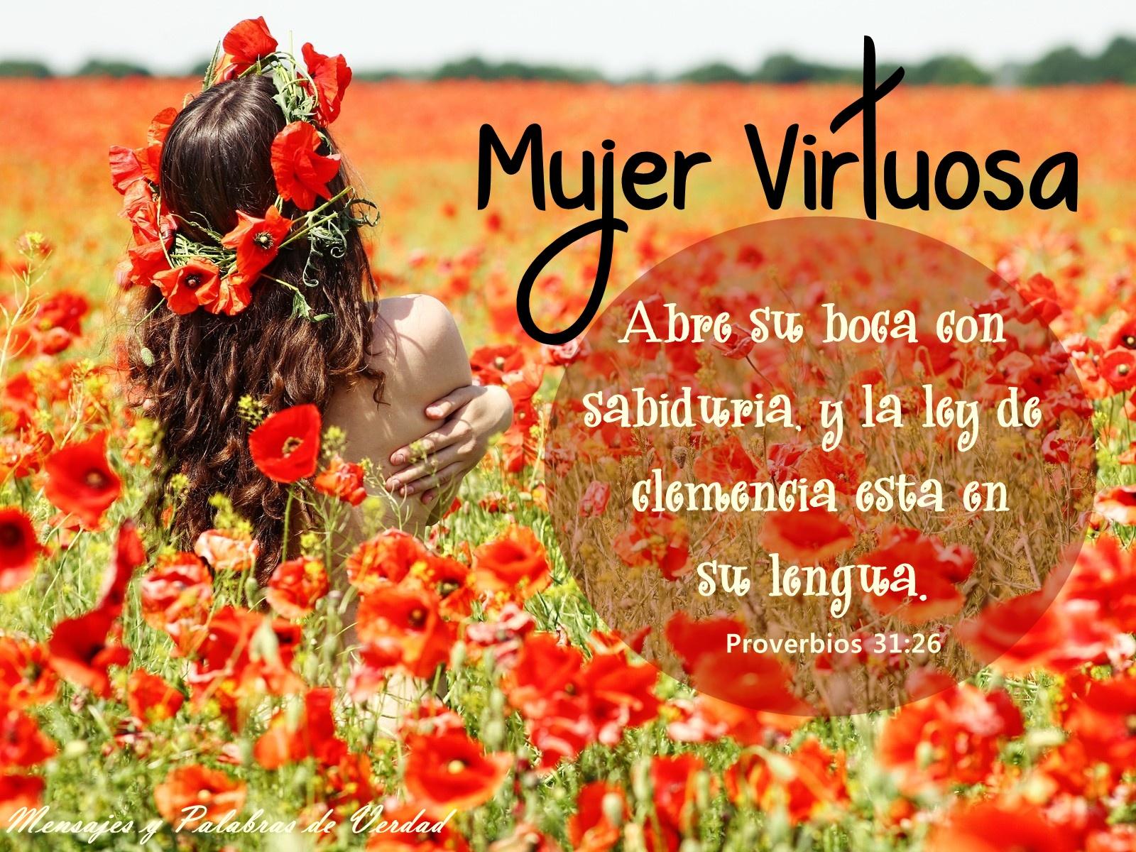 Mujer Virtuosa, Proverbios 31:26