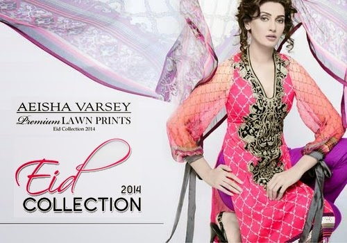 Aeisha Varsey Lawn Eid Collection 2014