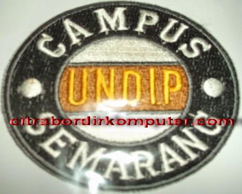 logo atribut bordir komputer kampus UNDIP Semarang